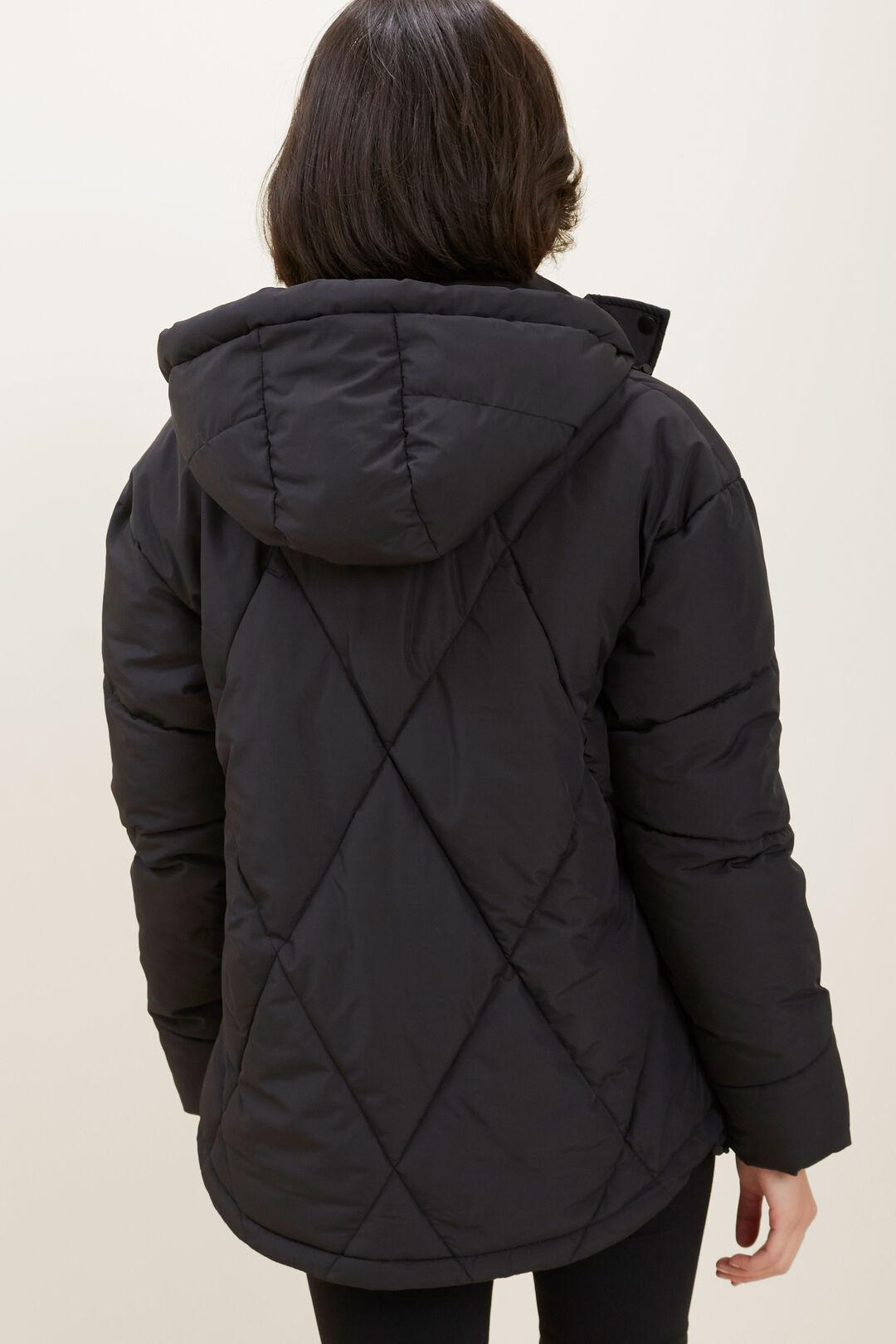 Diamond Puffer Jacket  Black  hi-res