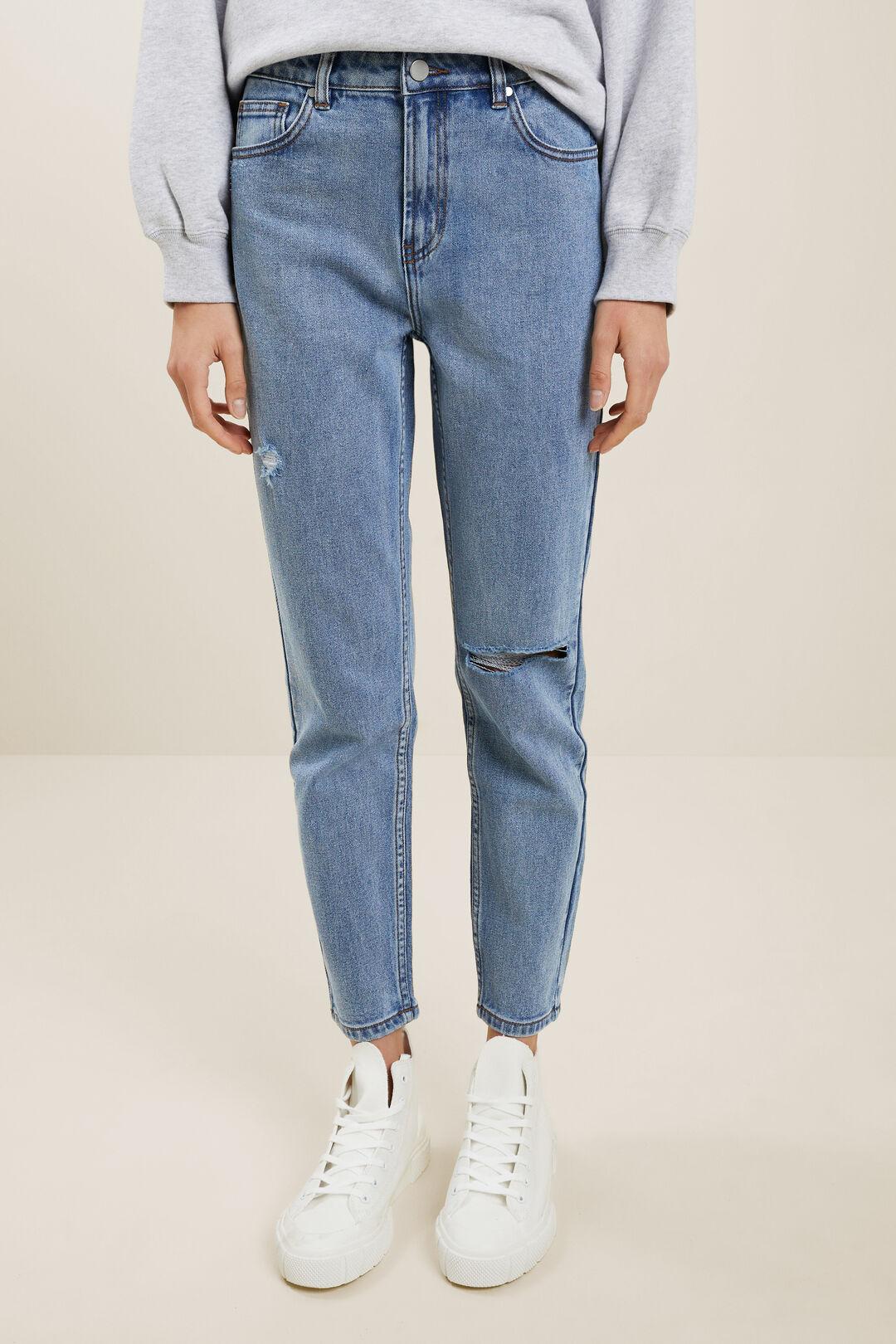 Distressed Jeans  Bright Blue Wash  hi-res