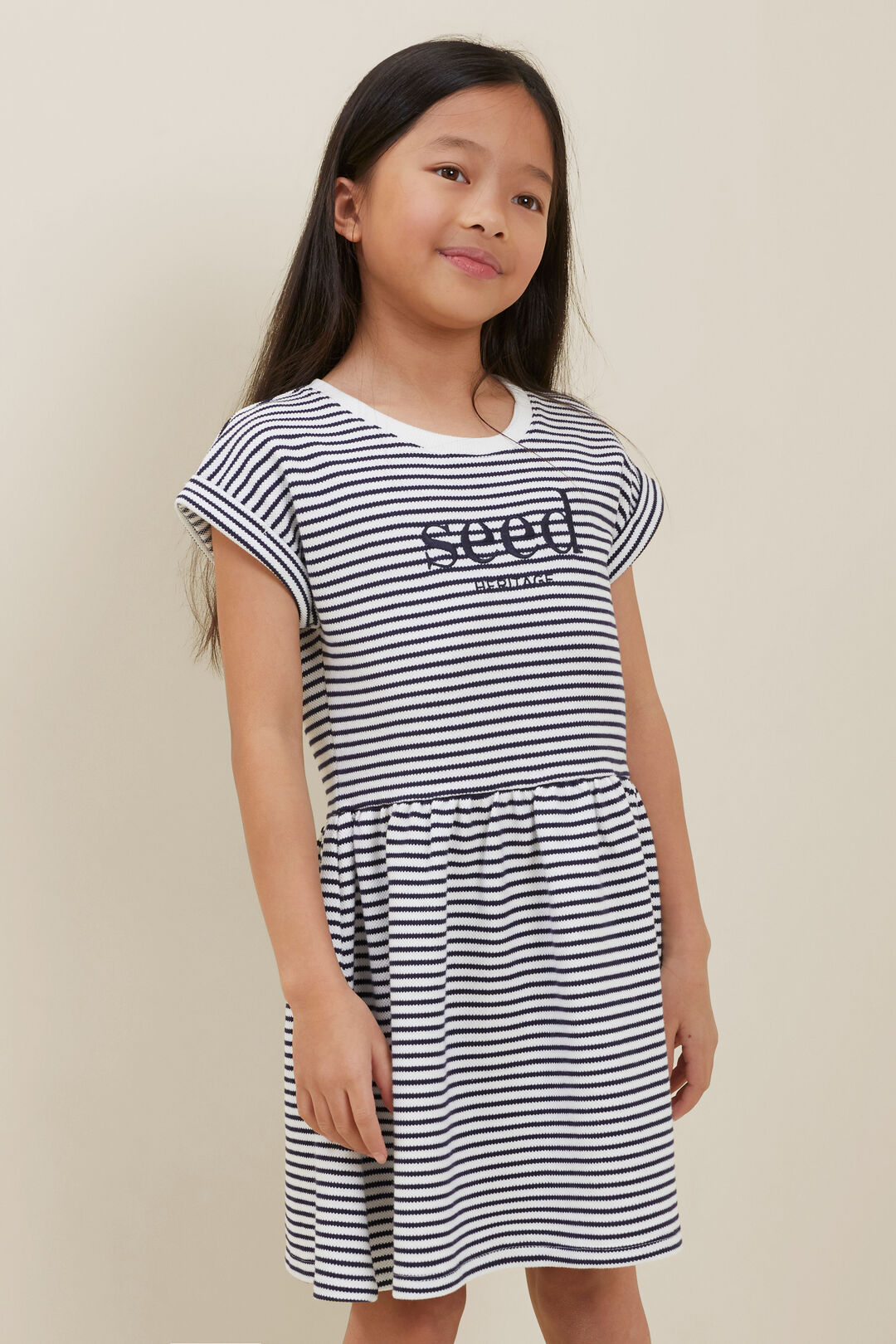 Pique Dress  Midnight Stripe  hi-res