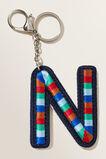 Embroidered Initial Keyring  N  hi-res