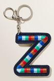 Embroidered Initial Keyring  Z  hi-res