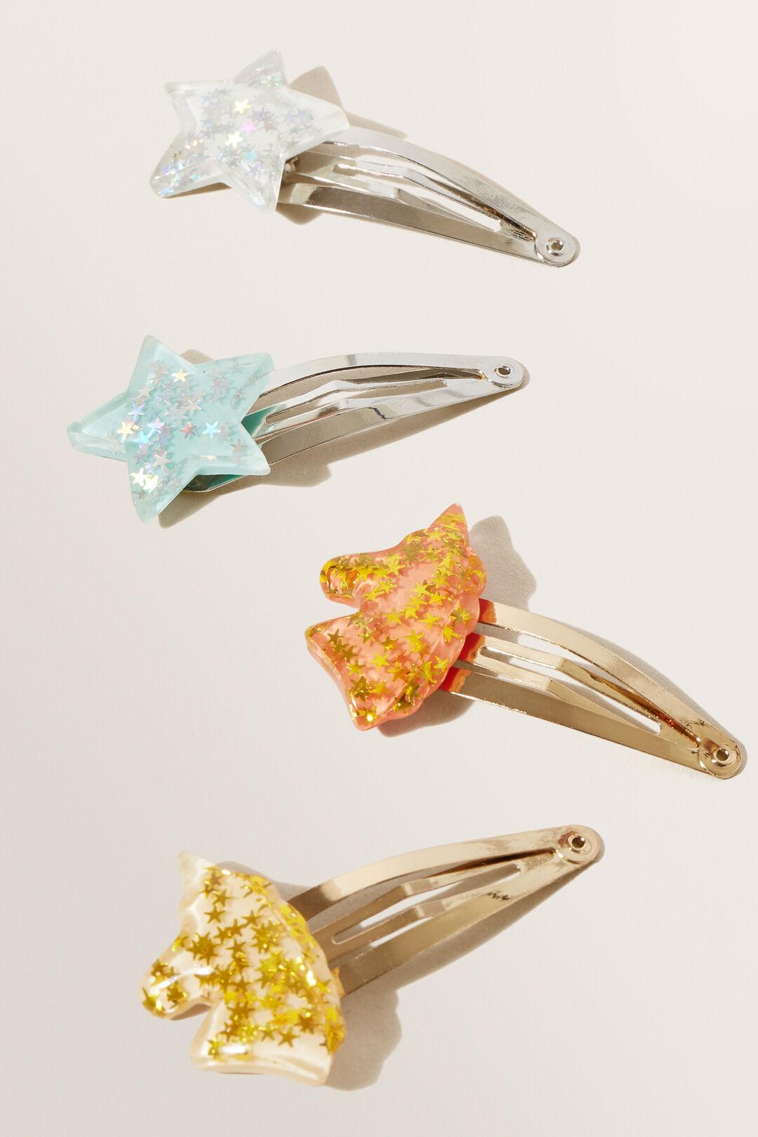 Glitter Star Clip Multipack  Multi  hi-res