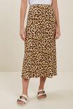 Leopard Slip Skirt  Leopard  hi-res