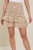 Ocelot Shirred Mini Skirt  Sienna Ocelot  hi-res