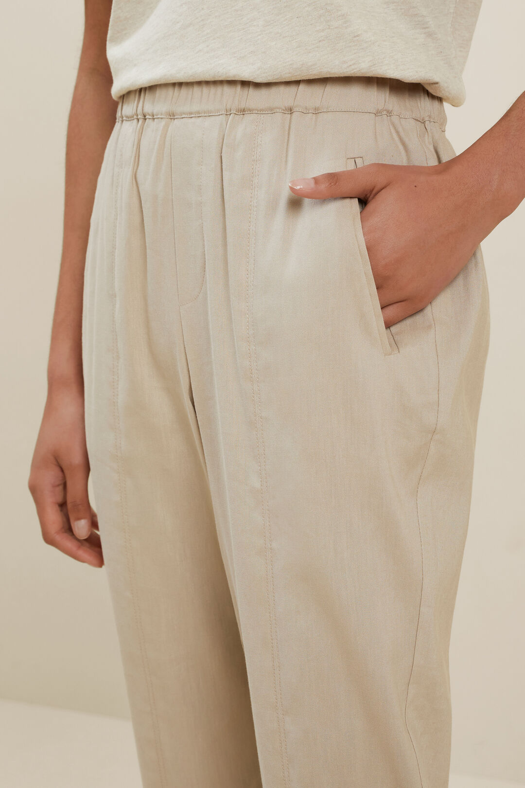 Slim Leg Pull On Pant  Cool Sand  hi-res