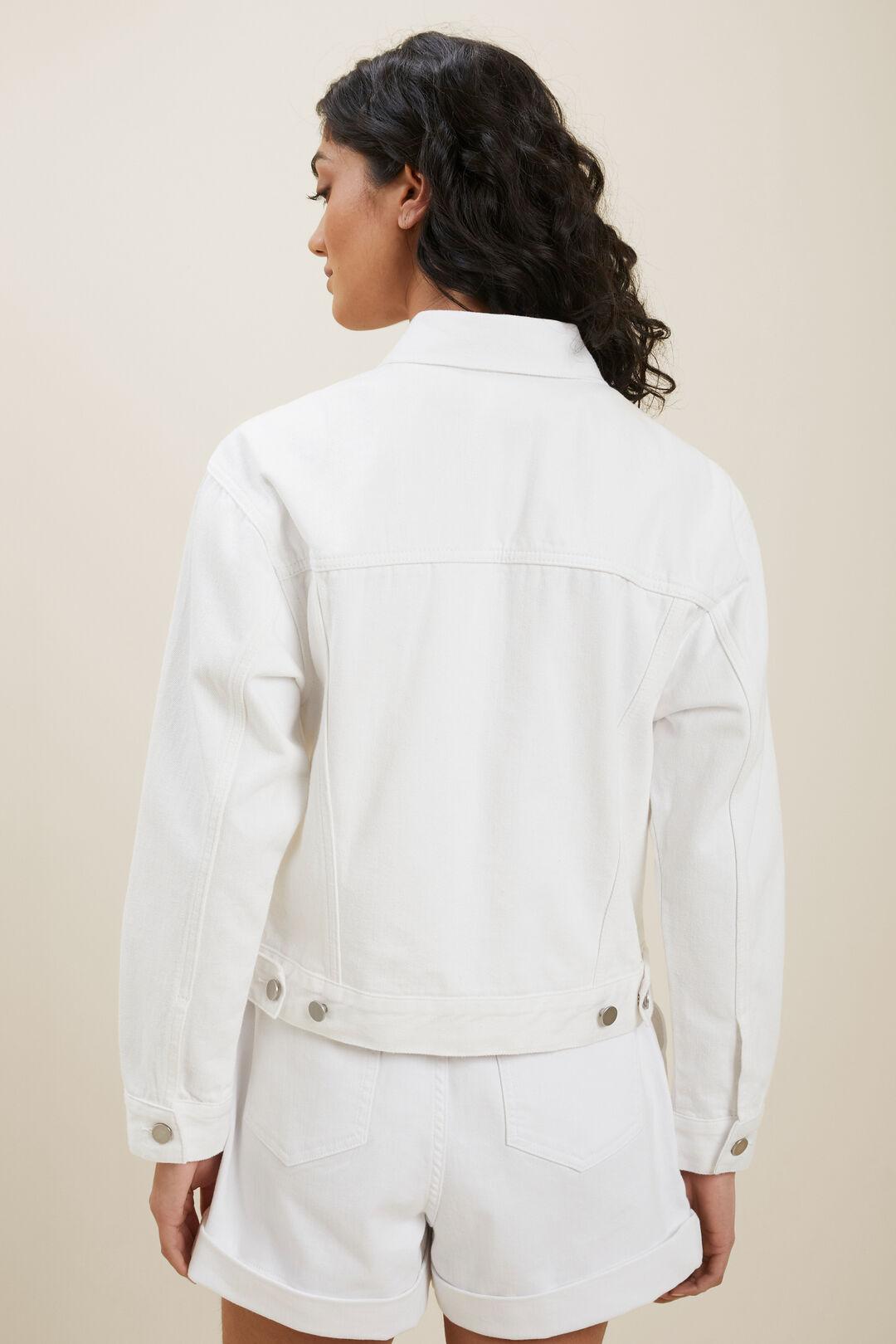 Denim Pocket Jacket  White  hi-res