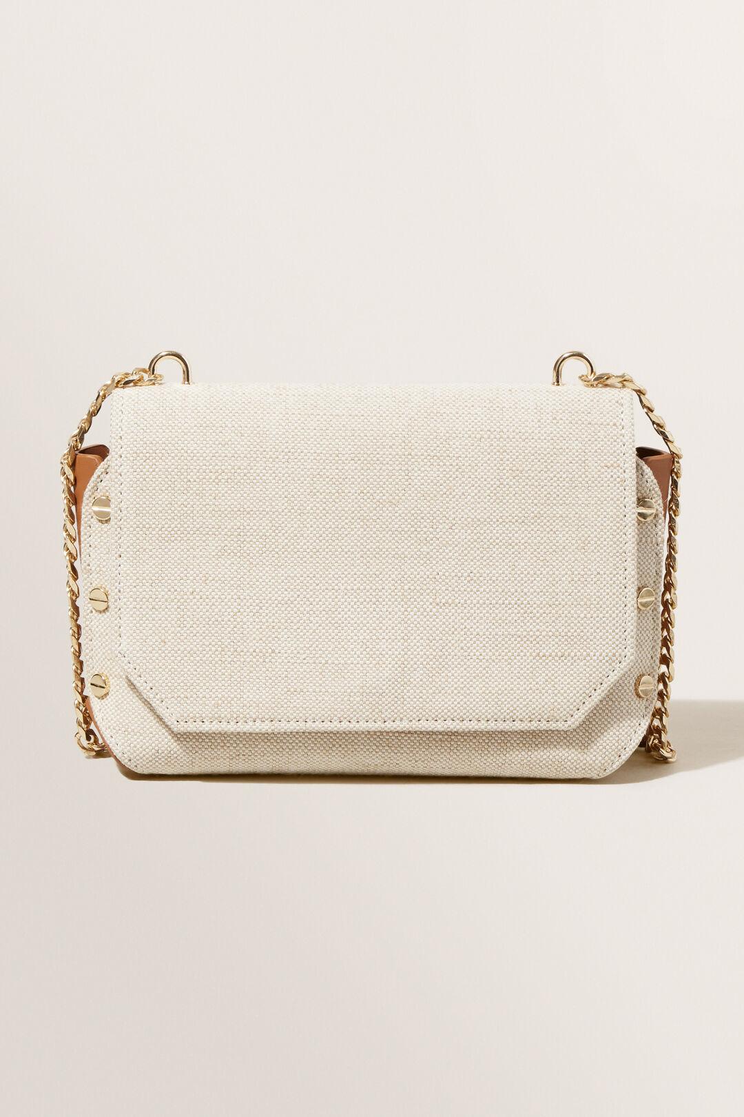 Chain Detail Sling Bag  Natural Tan  hi-res