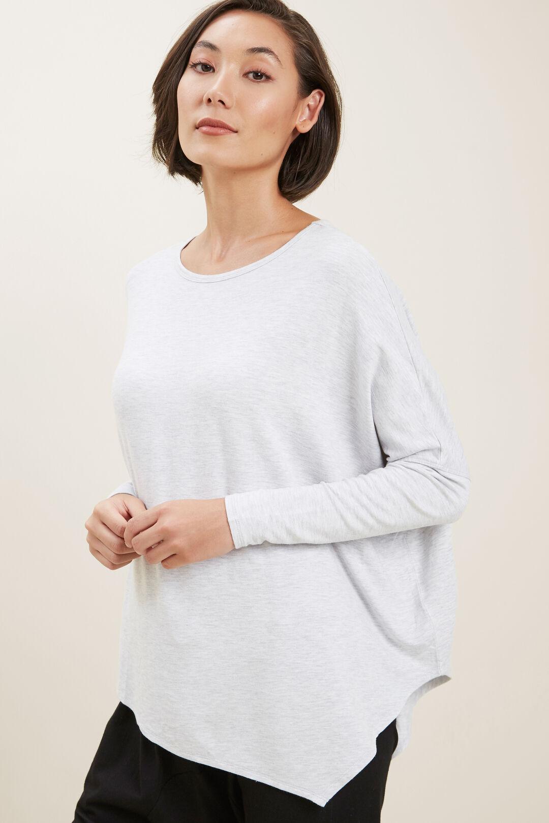 Core Asymmetrical Sweat  Light Grey Marle  hi-res