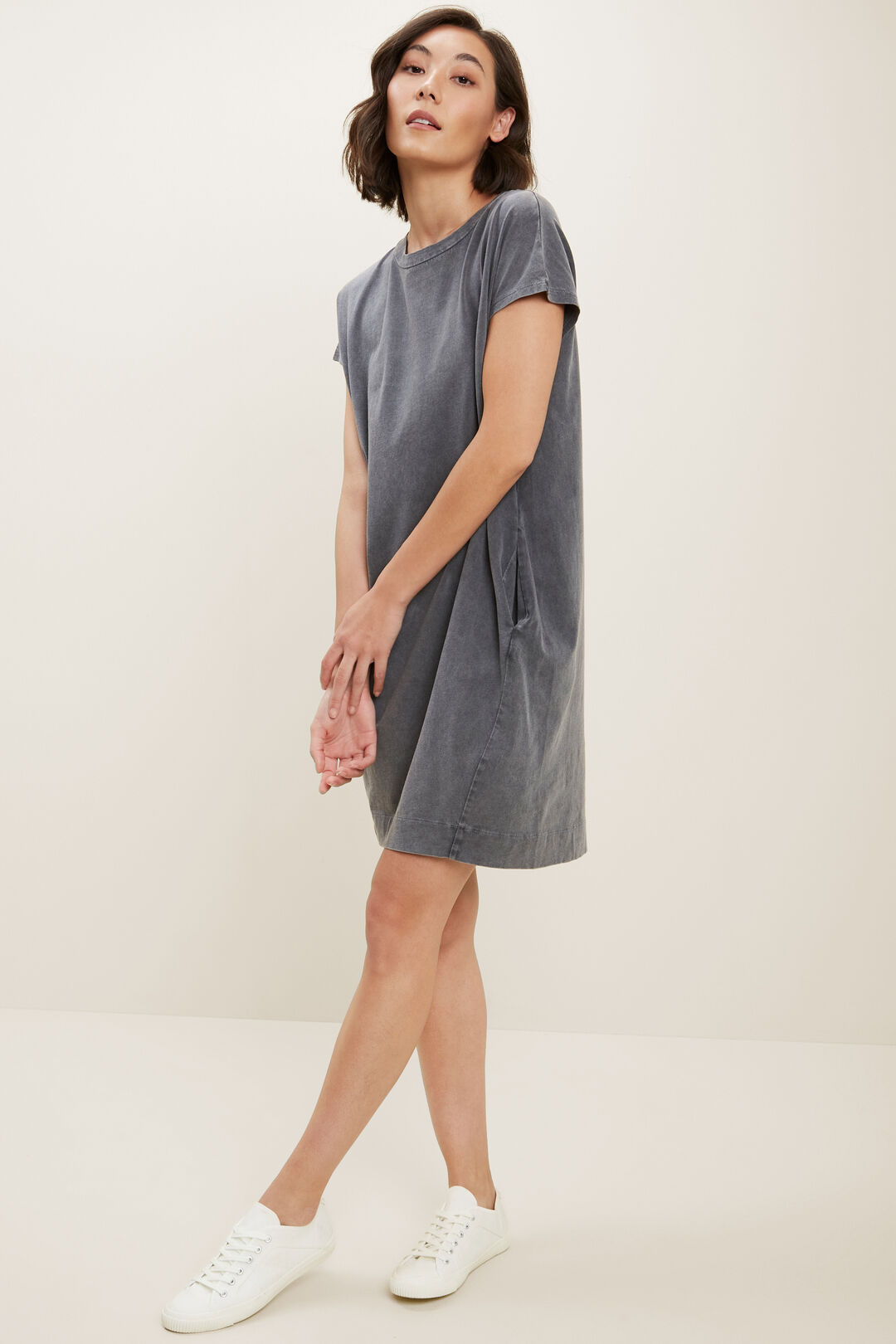 Tee Dress  Coal Vintage Wash  hi-res