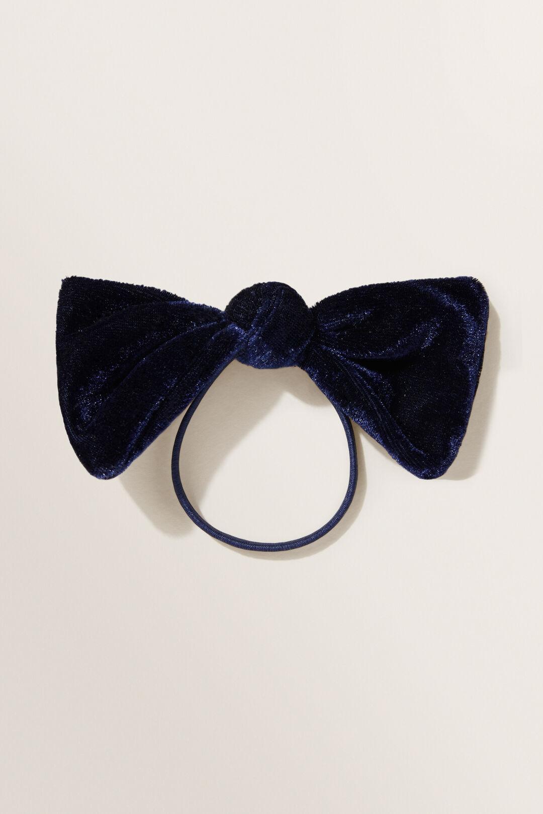 Velvet Bow  Navy  hi-res