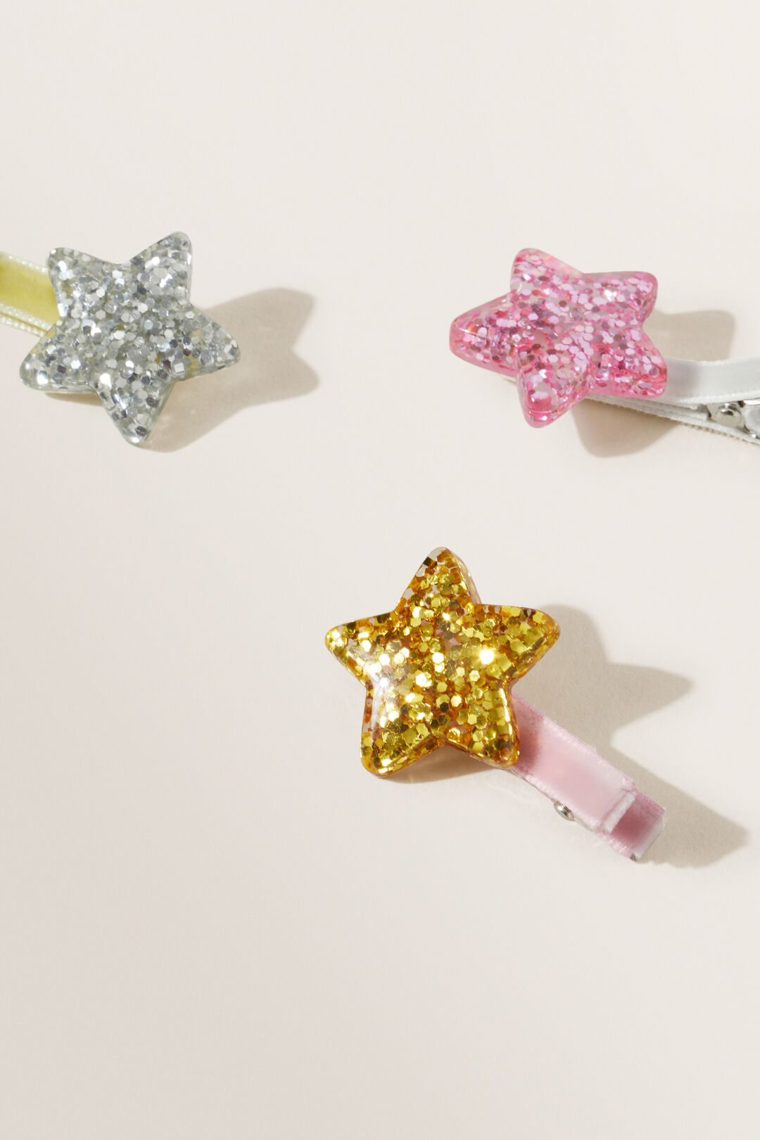 Glitter Stars Clips 3 Pack  Multi  hi-res