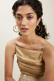 Double Layered Tort Hoops  Gold Tort  hi-res