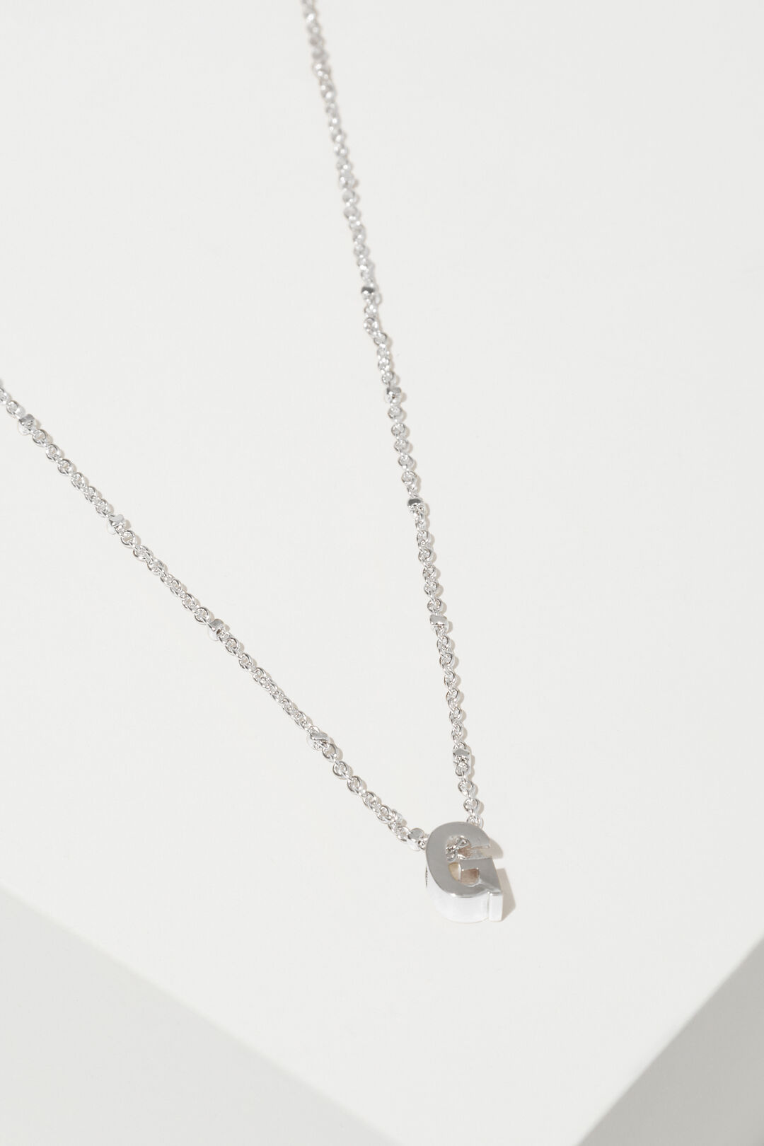 Silver Initial Charm  G  hi-res