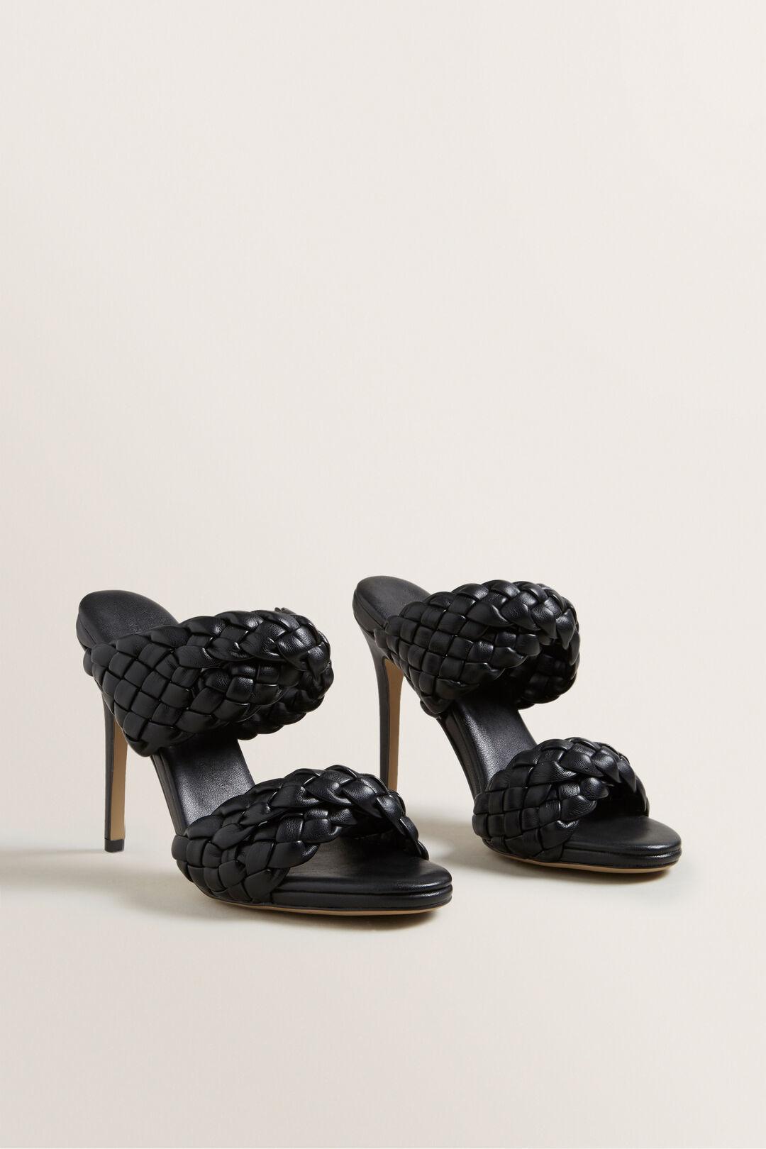 Elise Woven Heel  Black  hi-res