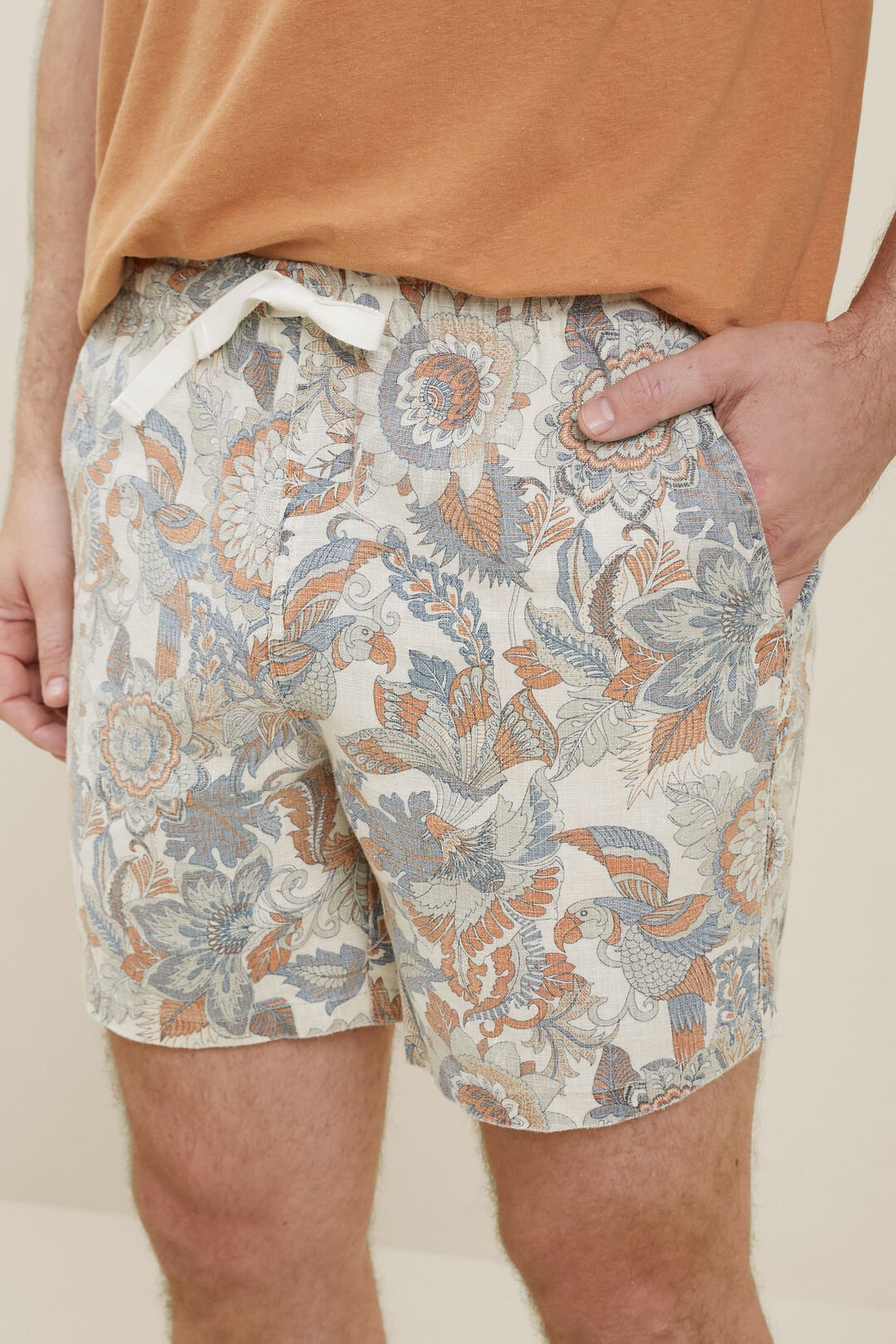 MensLinen Shorts  Multi  hi-res
