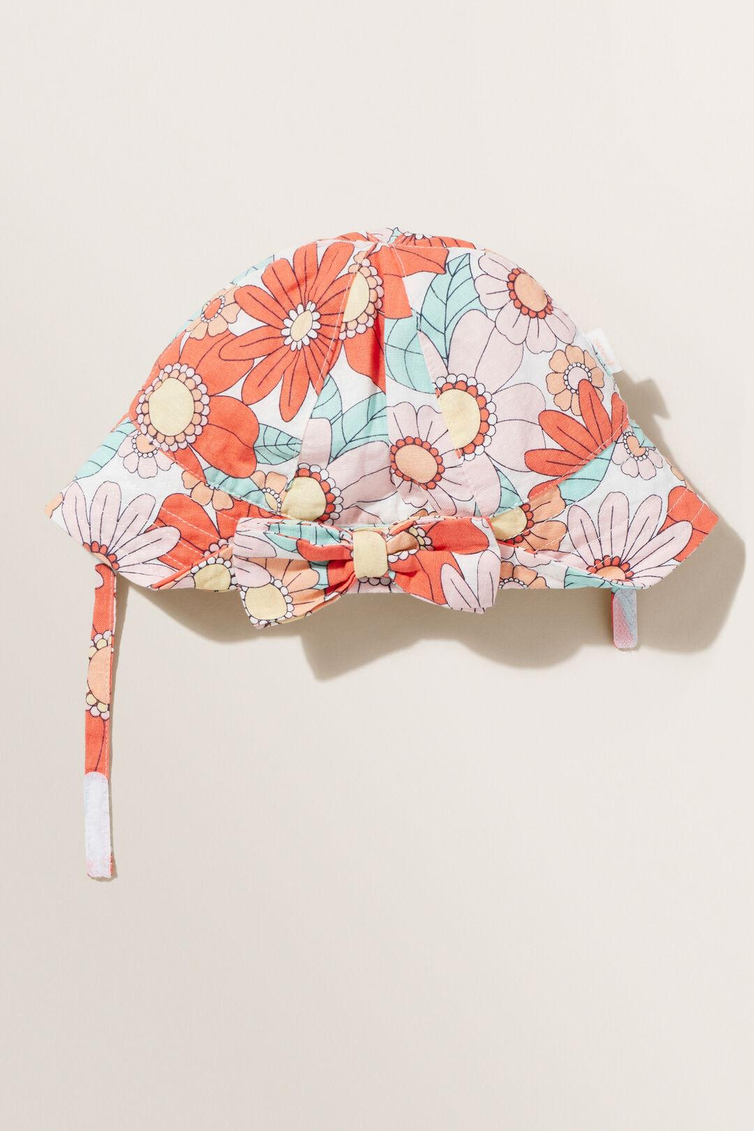 Bow Sun Hat  Multi  hi-res