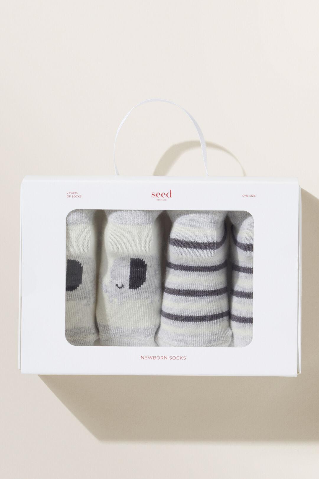 Elephant Socks  Grey  hi-res