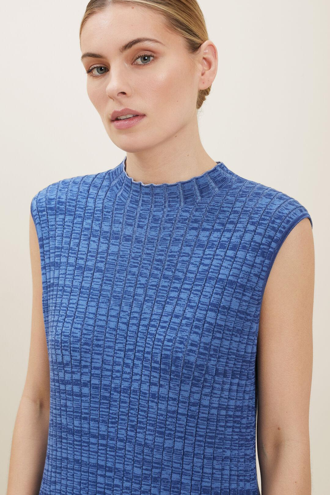 Sustainable Rib Knit Dress  Eggshell Spacedye  hi-res