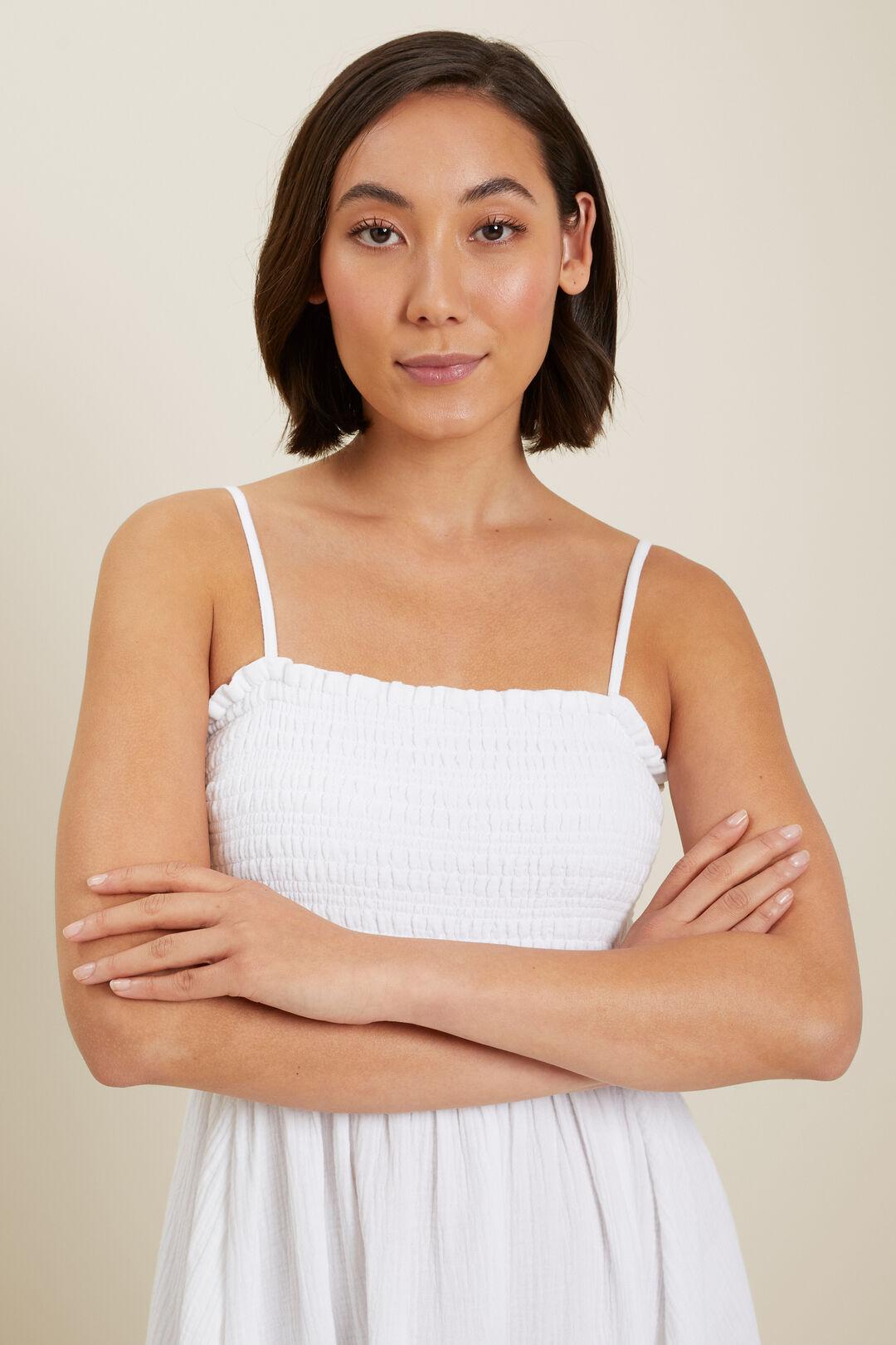 Cheesecloth Midi Dress  Whisper White  hi-res