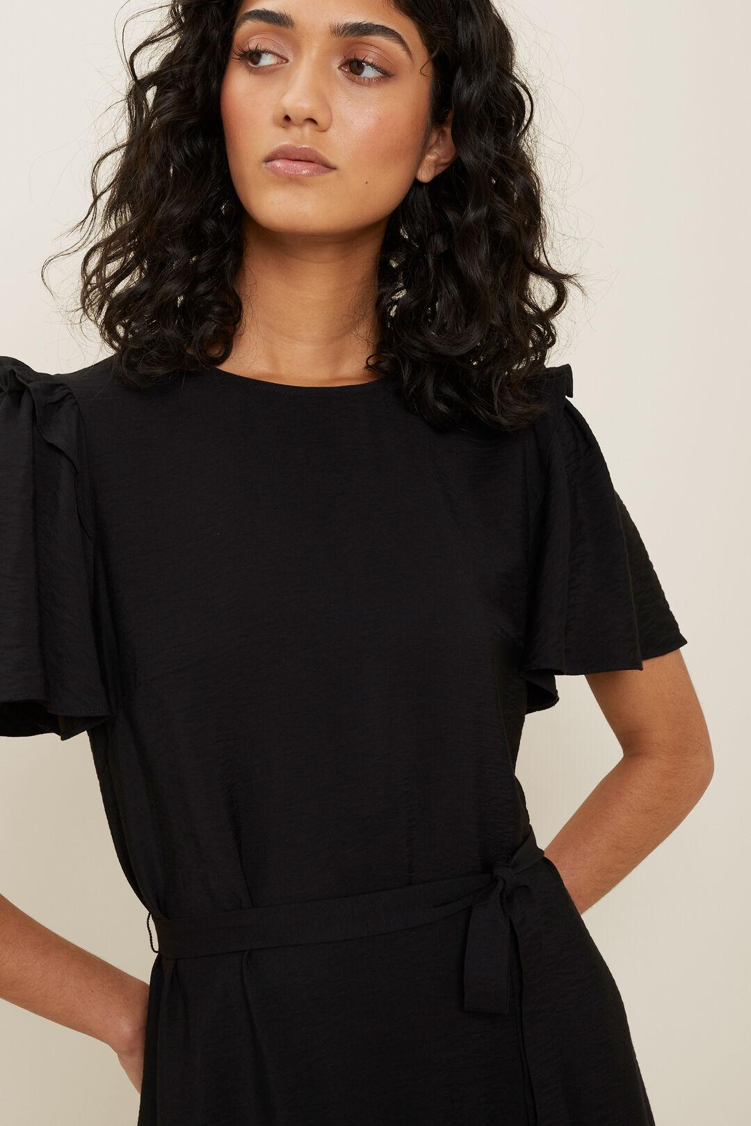 Frill Mini Dress  Black  hi-res