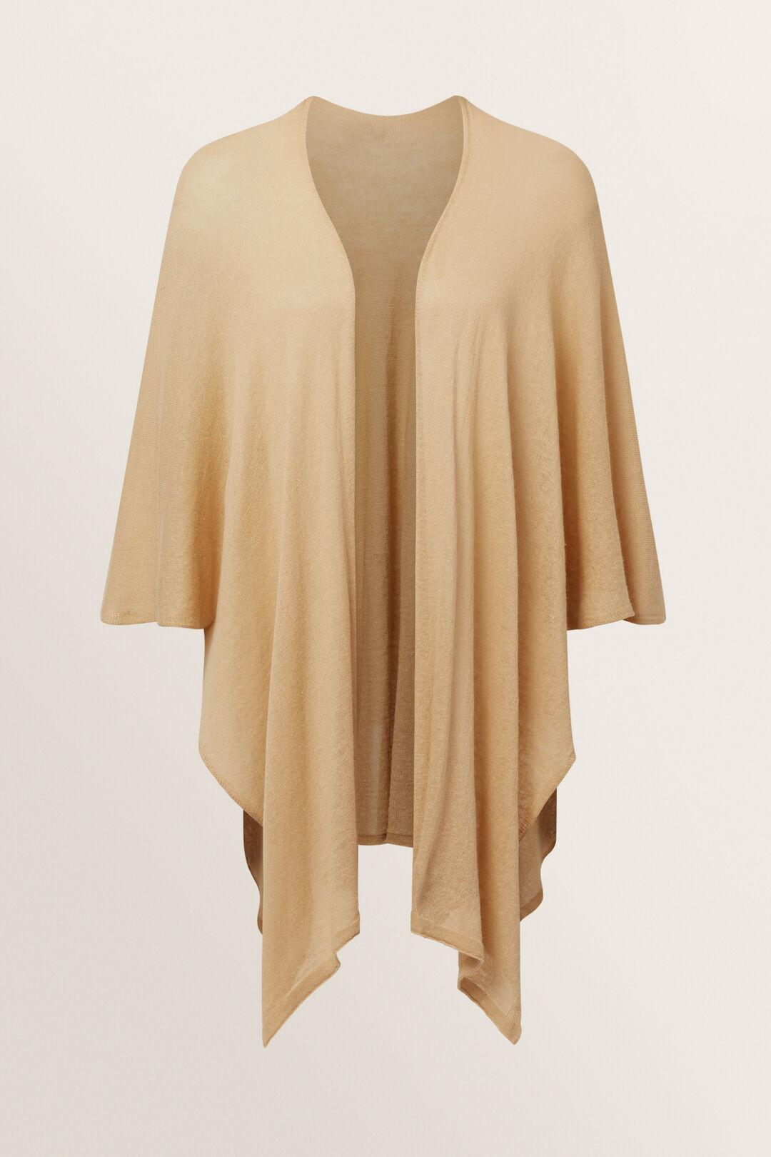 Light Knit Poncho  Neutral Sand Multi  hi-res