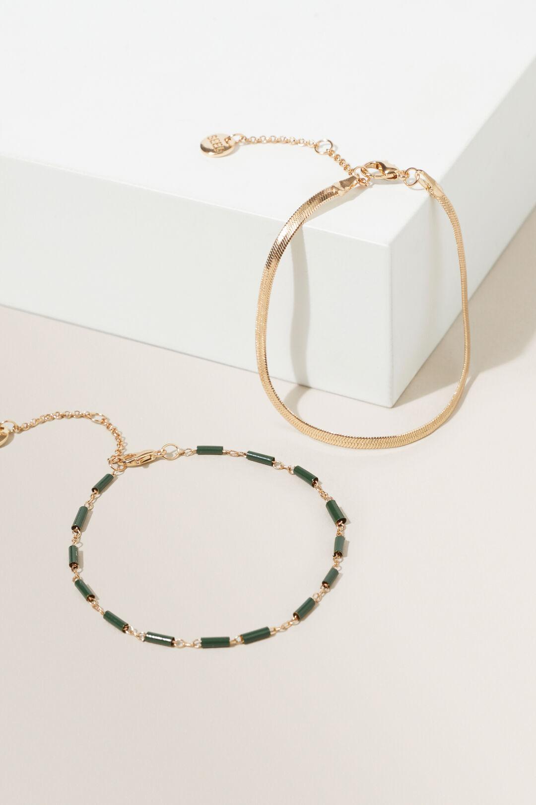Beaded Bracelet  Gold Basil  hi-res