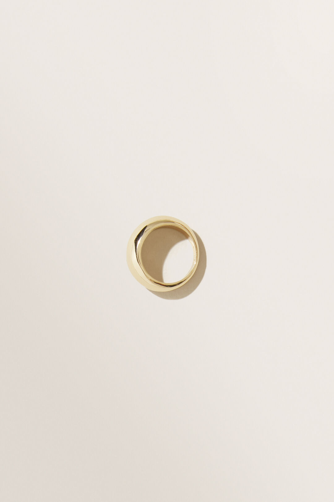 Moulded Dome Ring  Gold  hi-res