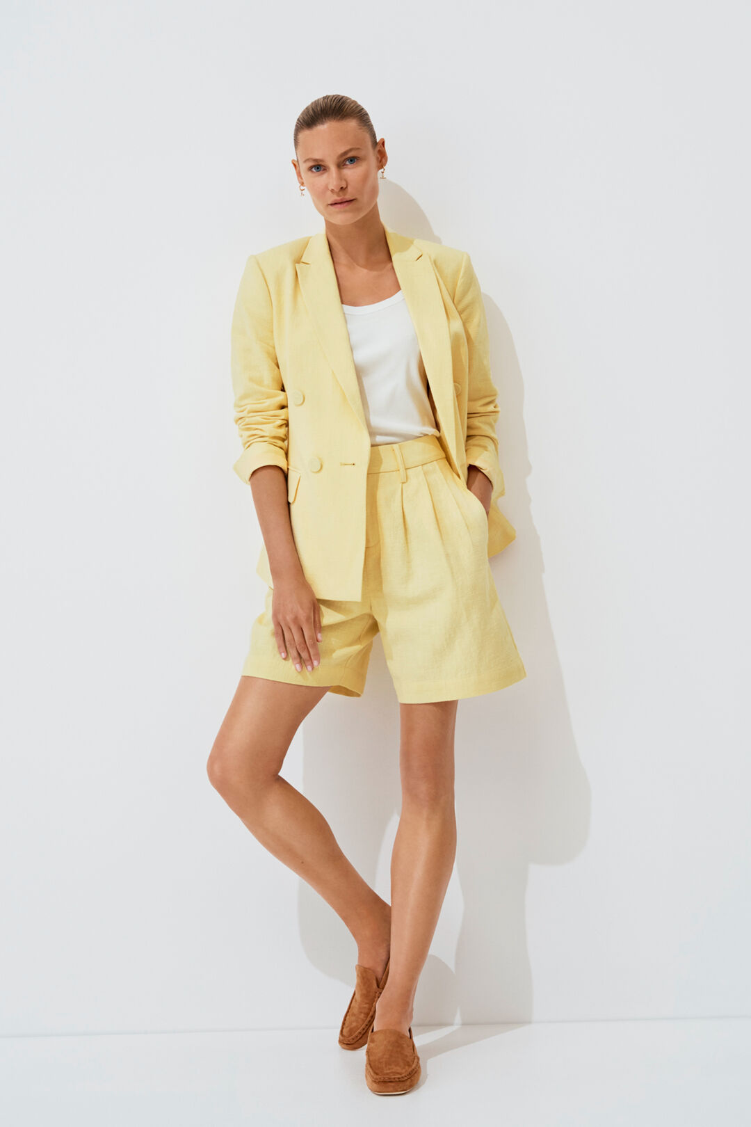 Textured Tailored Short  Limocello  hi-res