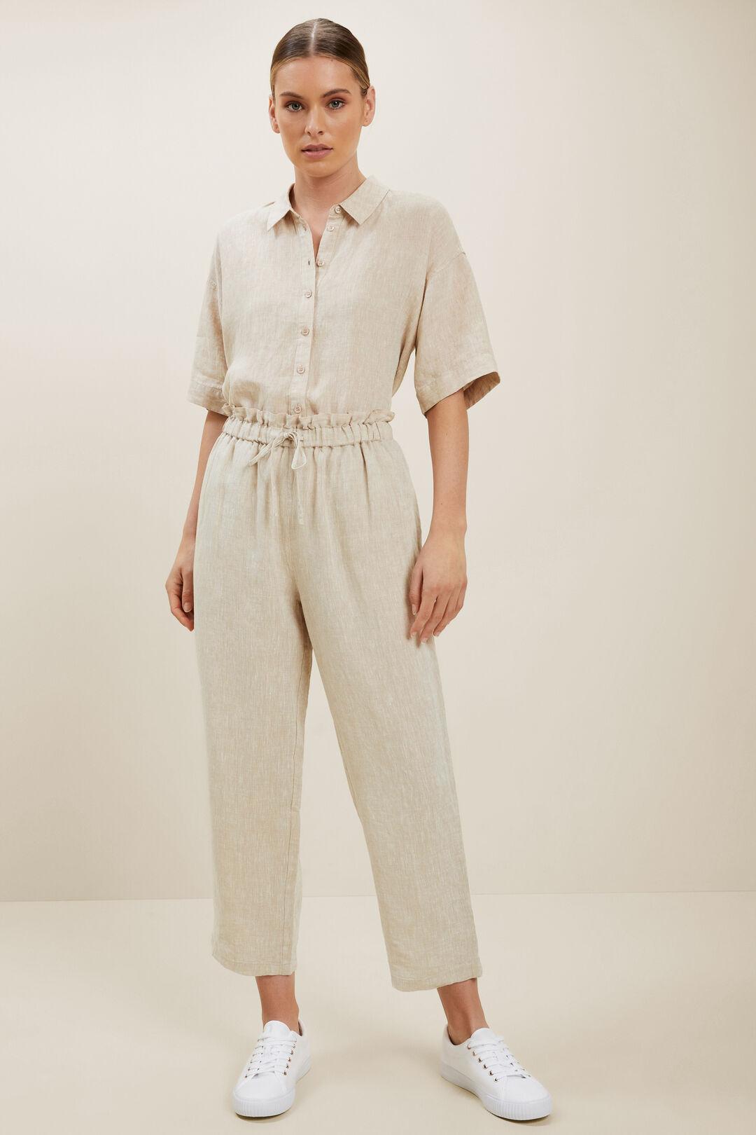 Short Sleeve Linen Shirt  Neutral Blush  hi-res