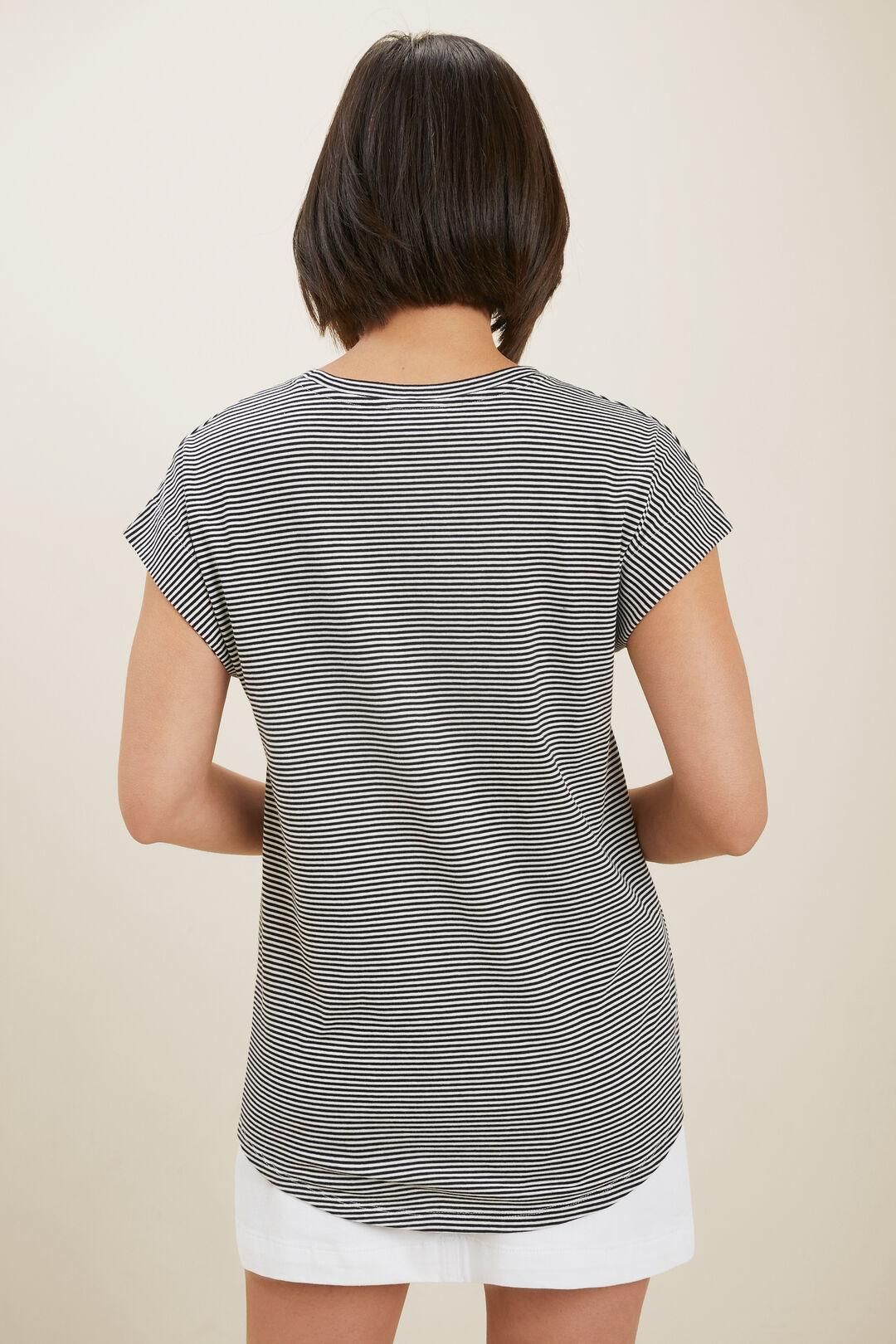 Core Longline Tee  Mono Stripe  hi-res