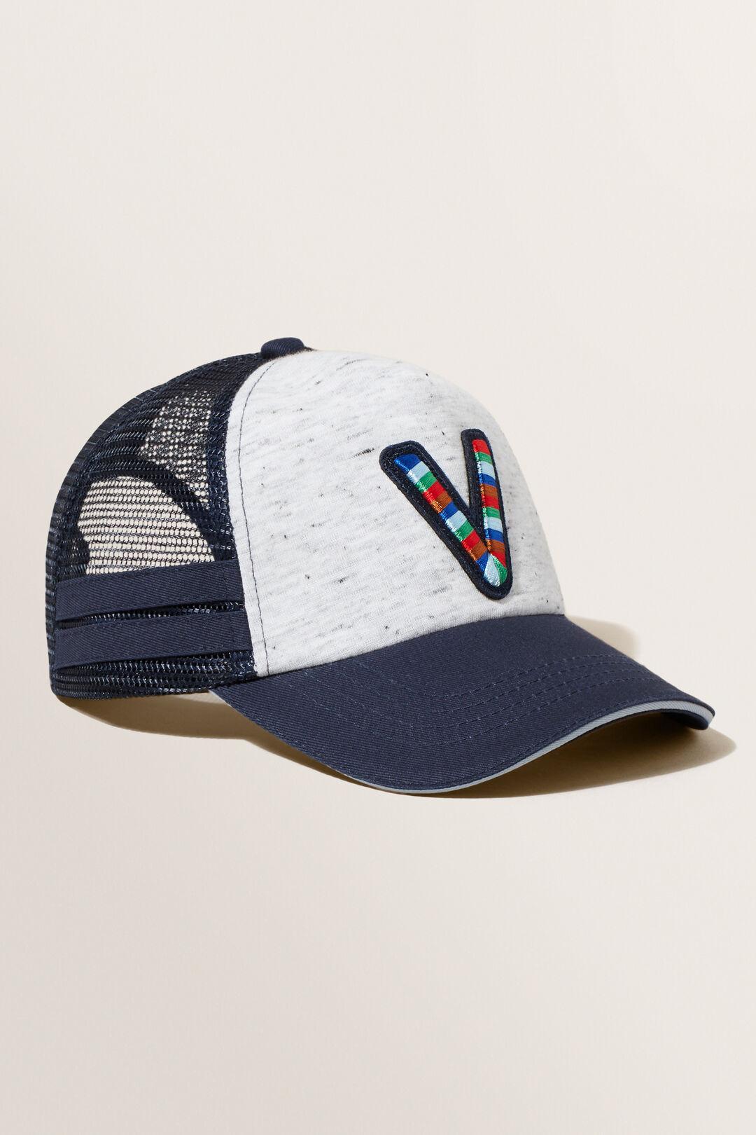 Embroidered Initial Cap  V  hi-res