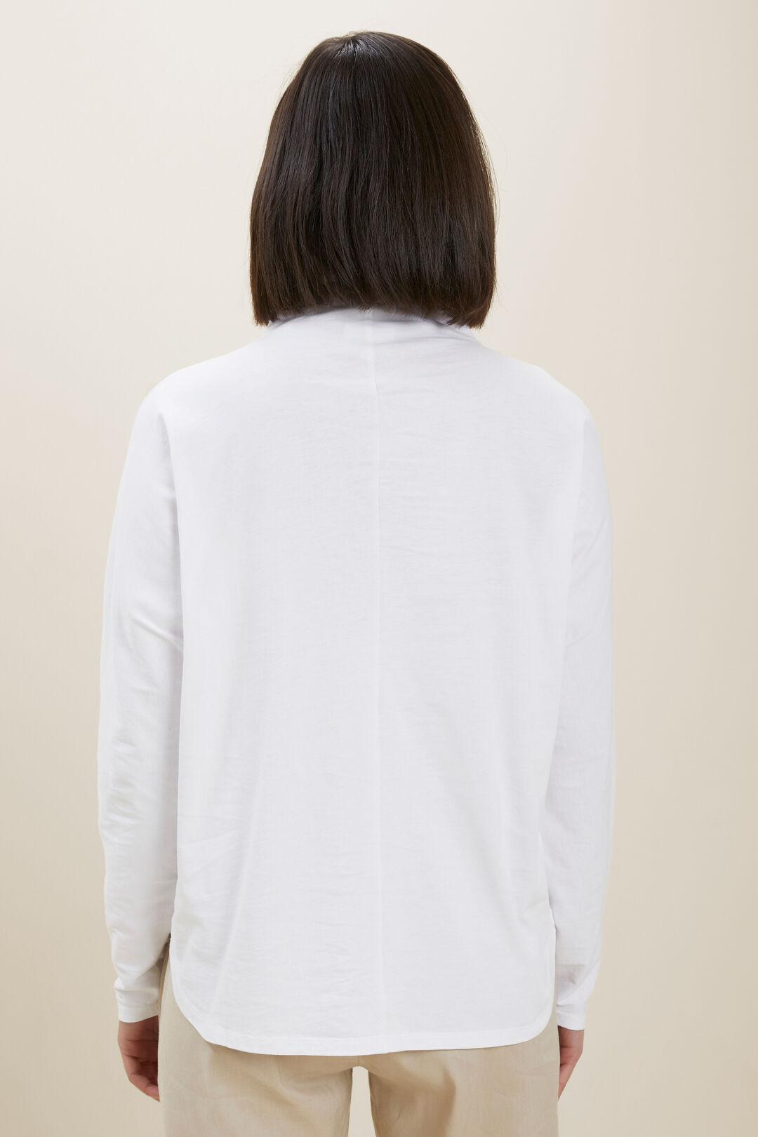 Mock Neck Long Sleeve Top  Whisper White  hi-res