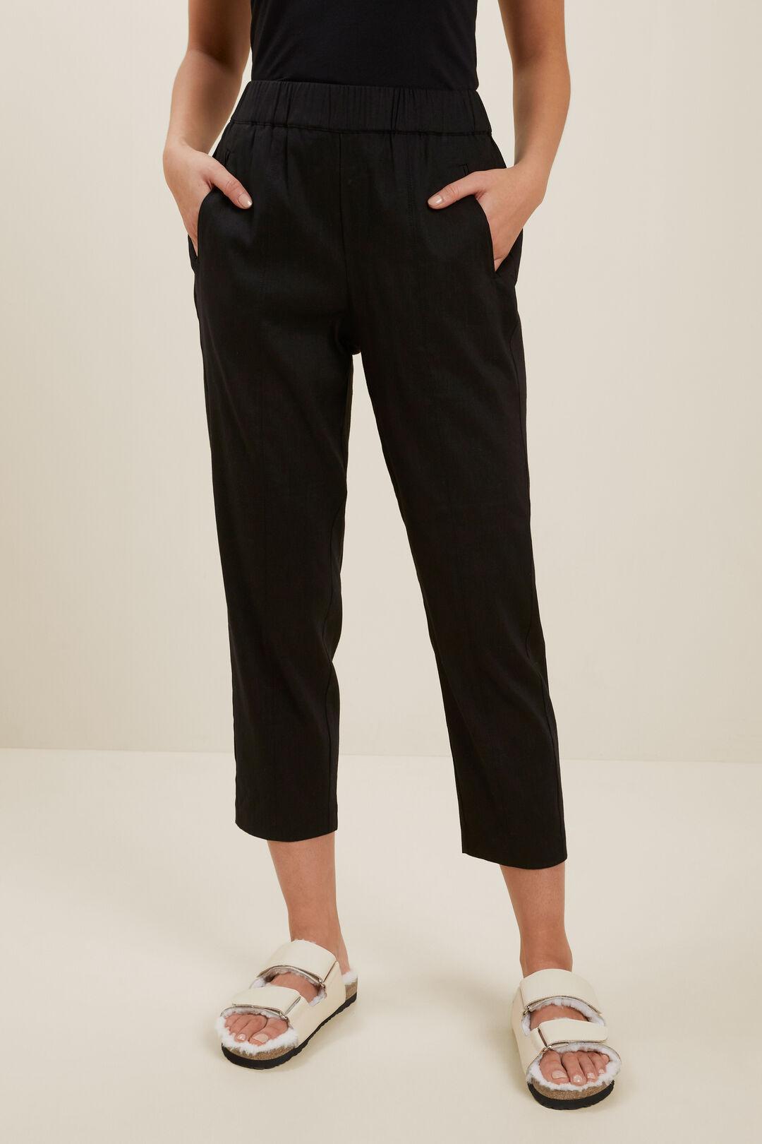 Slim Leg Pull On Pant  Black  hi-res