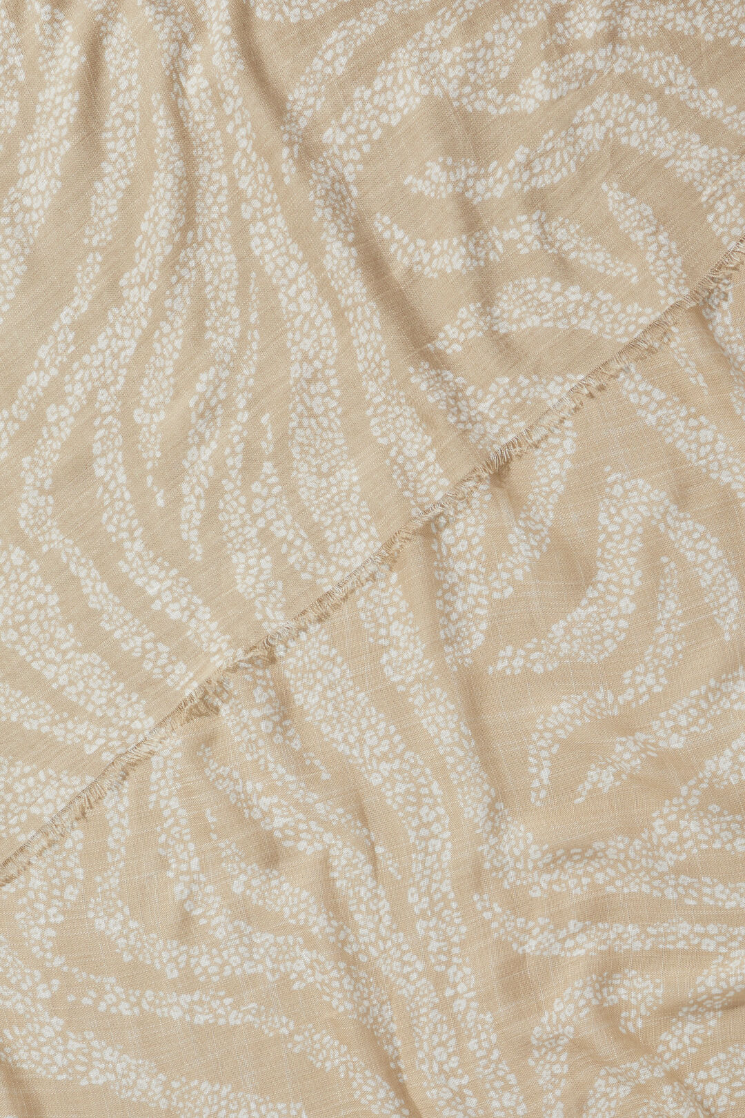 Abstract Zebra Print Scarf  Stone French Vanilla  hi-res