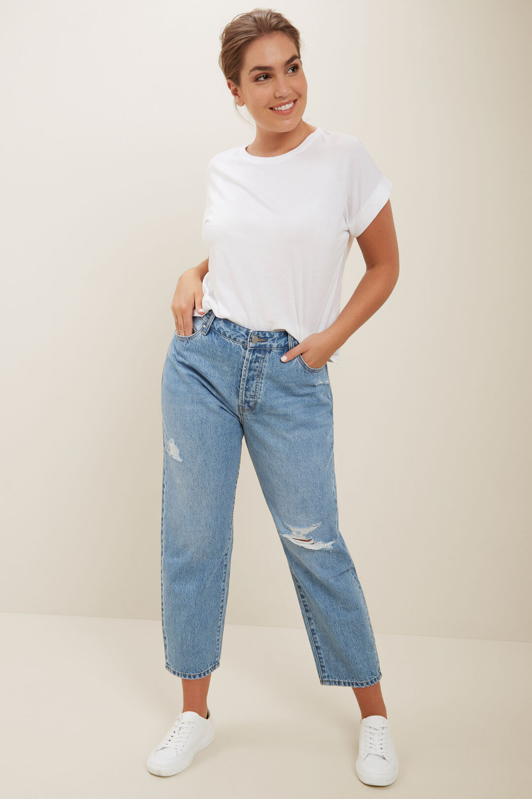 Core Rolled Cuff Tee  Whisper White  hi-res