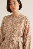Fluted Animal Print Dress    hi-res
