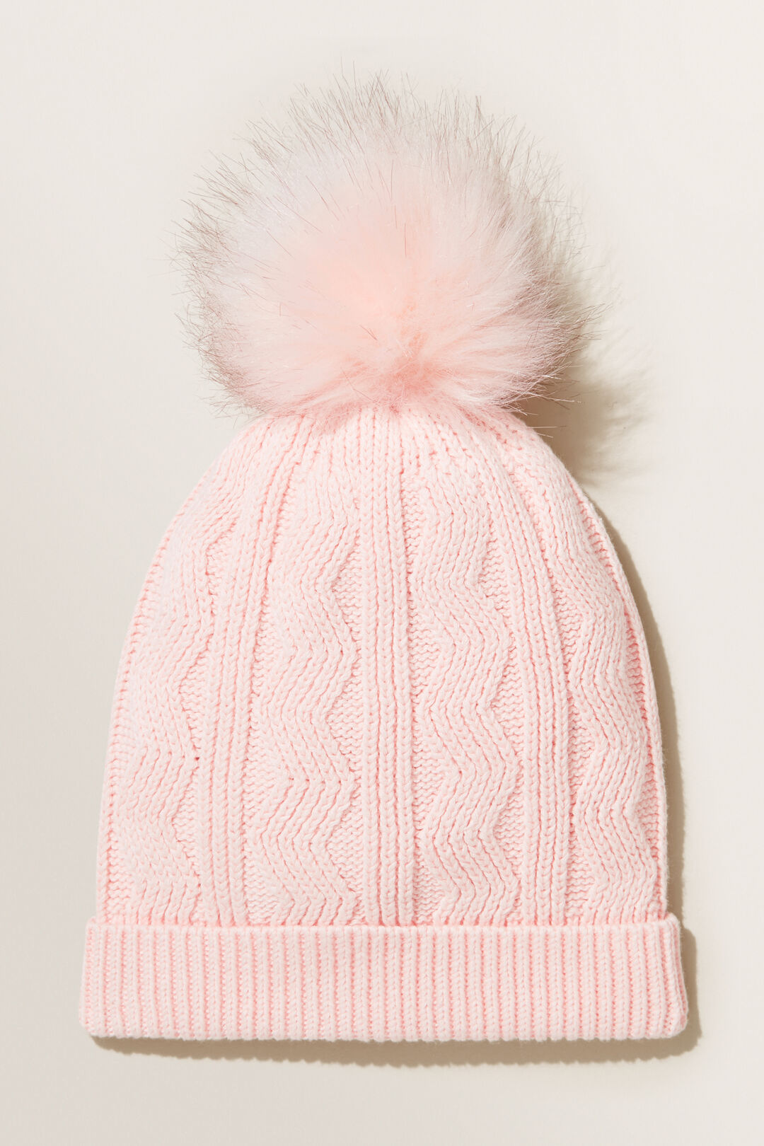 Cable Beanie  Dusty Rose  hi-res