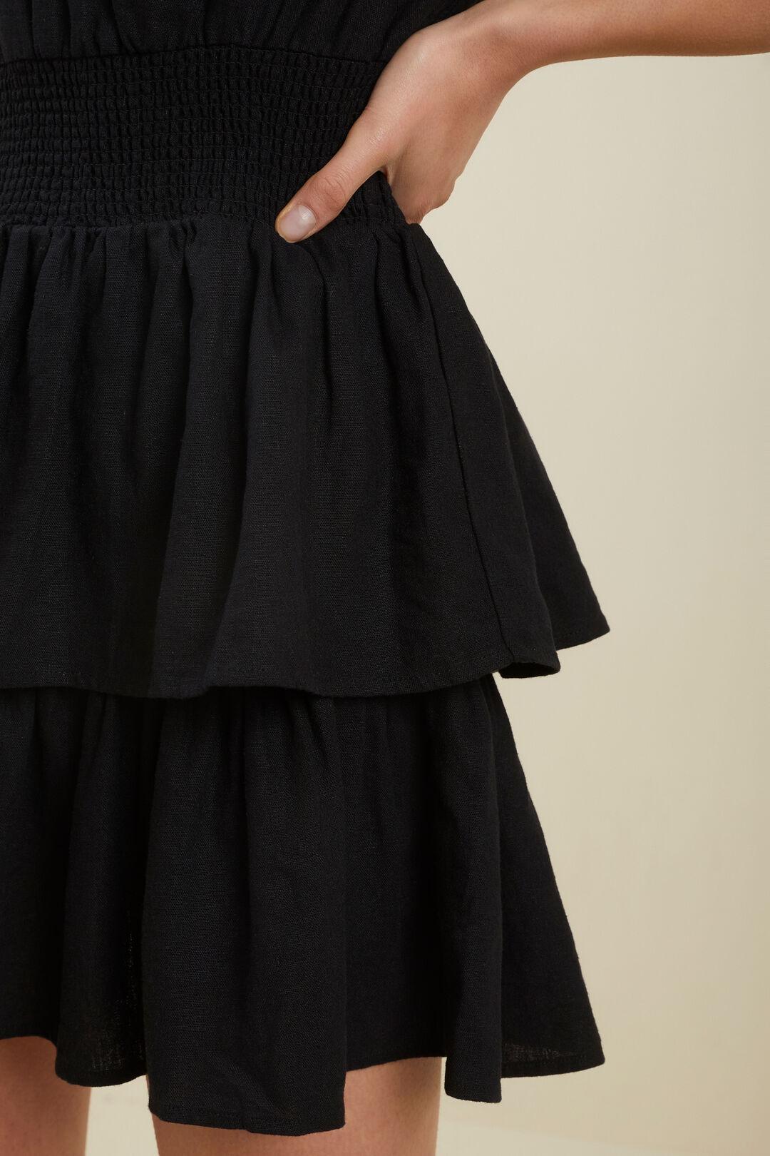 Linen Dress  Black  hi-res