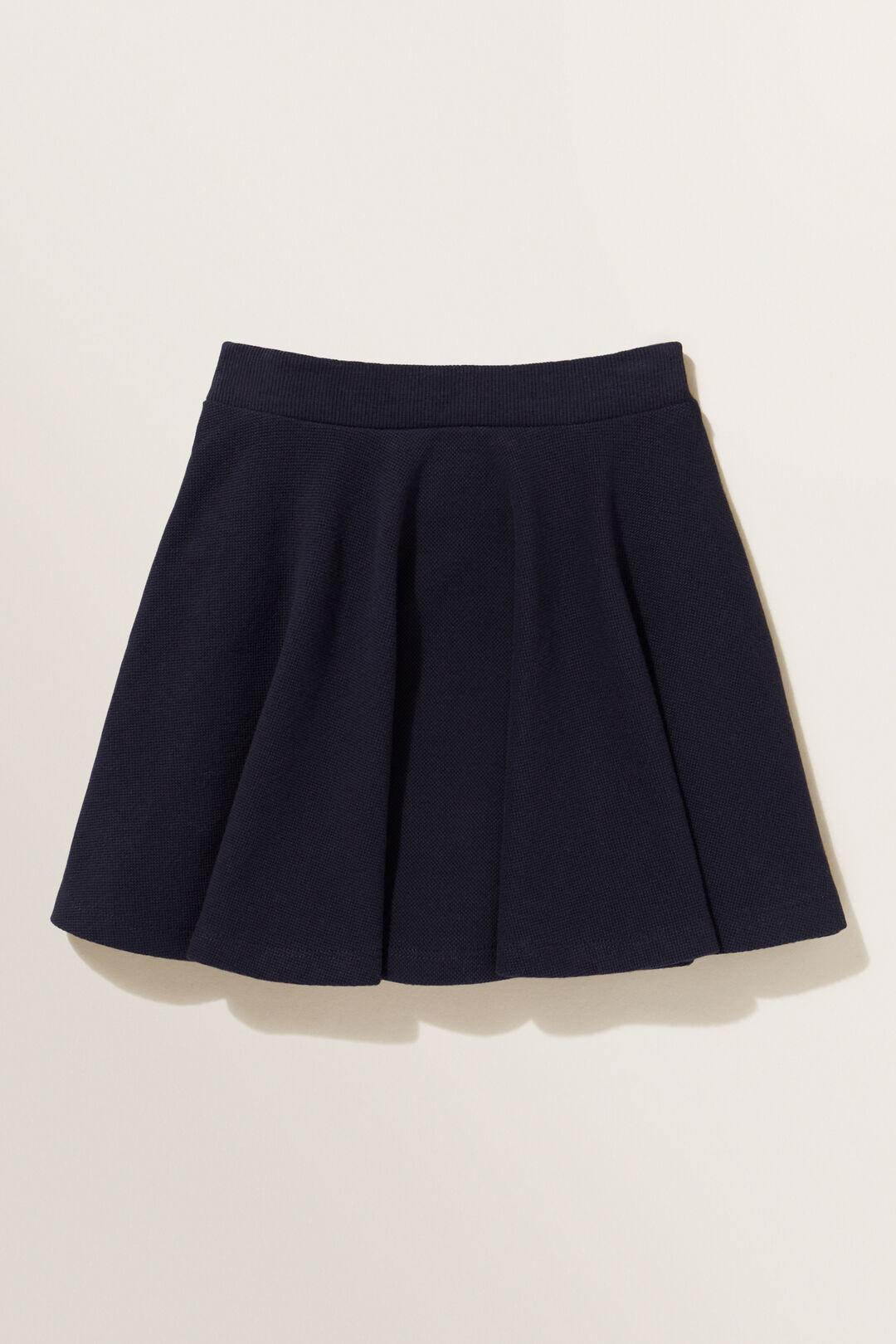 Pique Skirt  Midnight Blue  hi-res