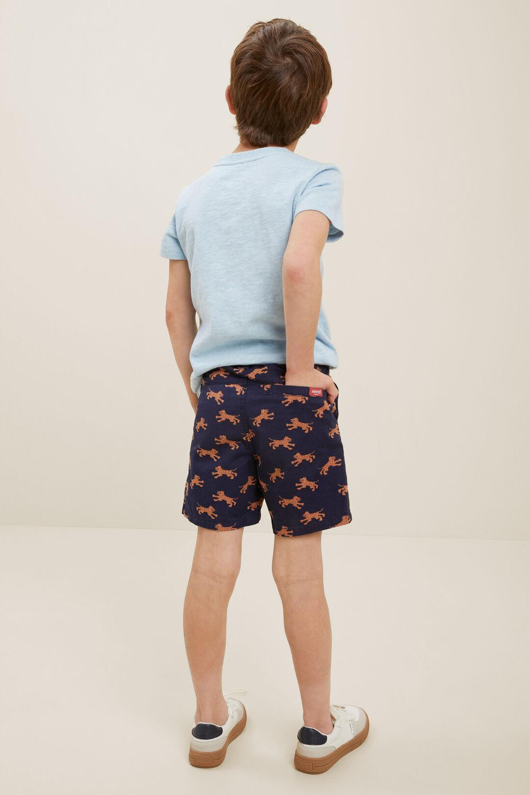 Tiger Chino Shorts  Midnight Blue  hi-res