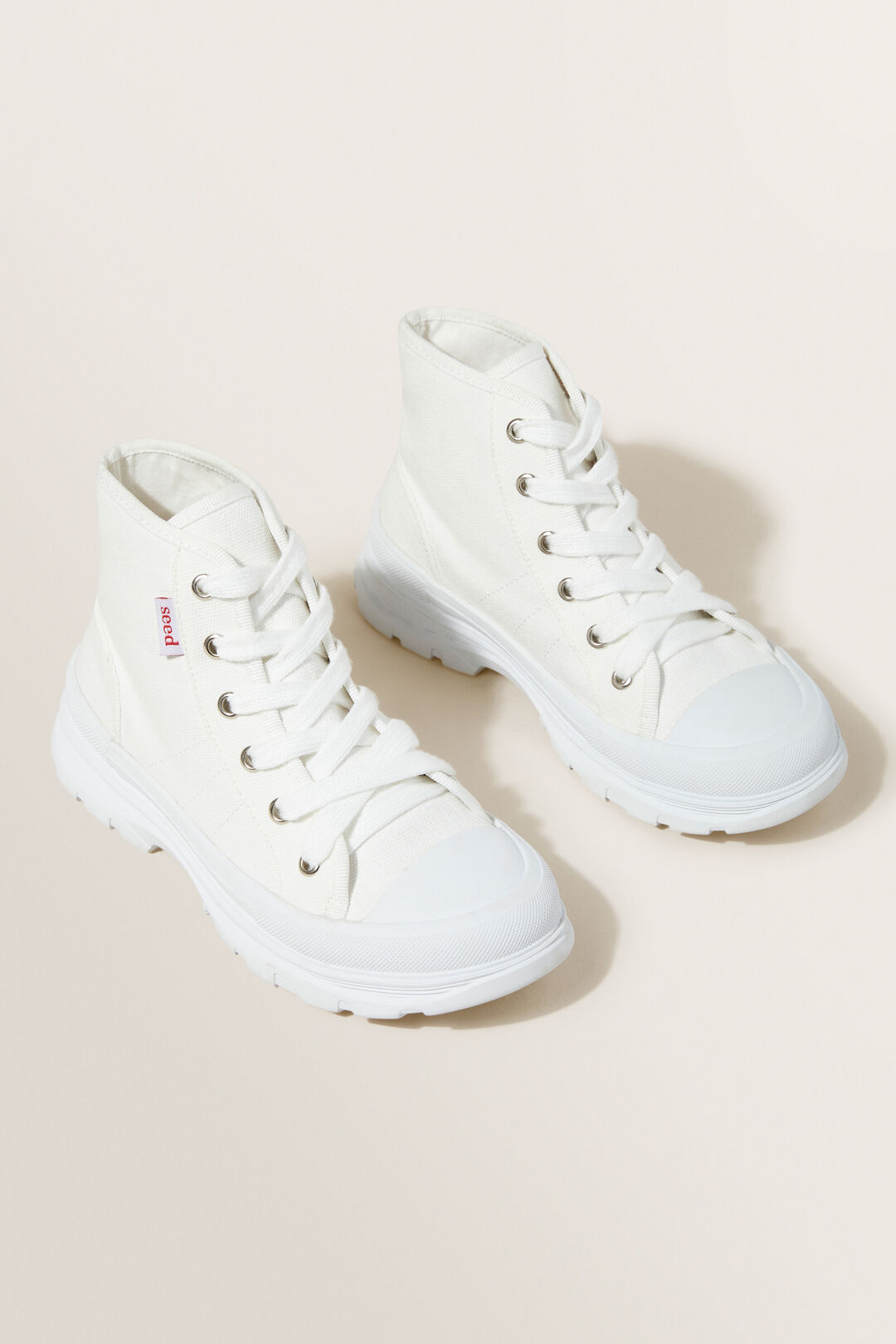 Chunky Sole Canvas High-Top  White  hi-res