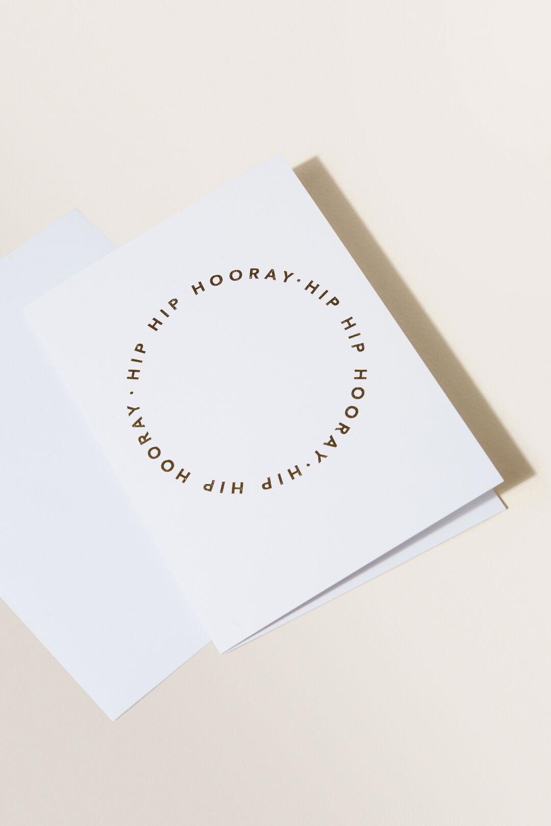 Greeting Card  Hip Hip Hooray  hi-res