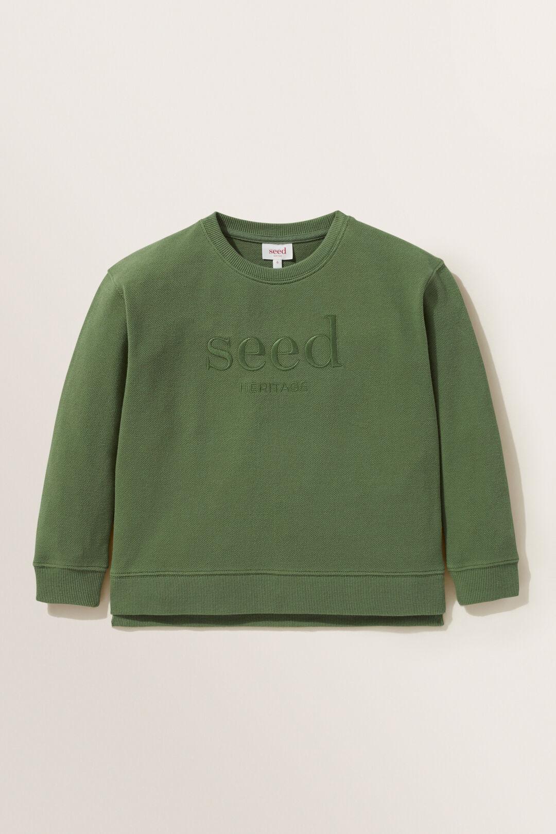 Logo Sweater  Khaki Green  hi-res