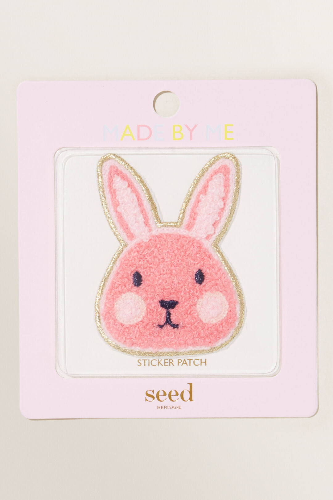 Made By Me Motif Patch  Pink Bunny  hi-res