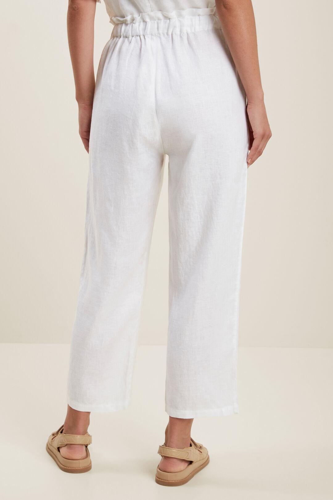 Core Linen Tie Up Pant  Whisper White  hi-res