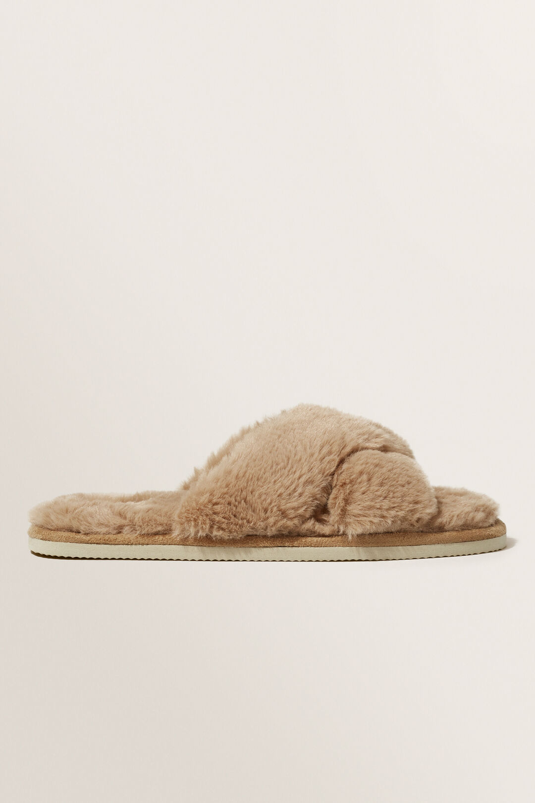 Crossover Slippers  Taupe  hi-res