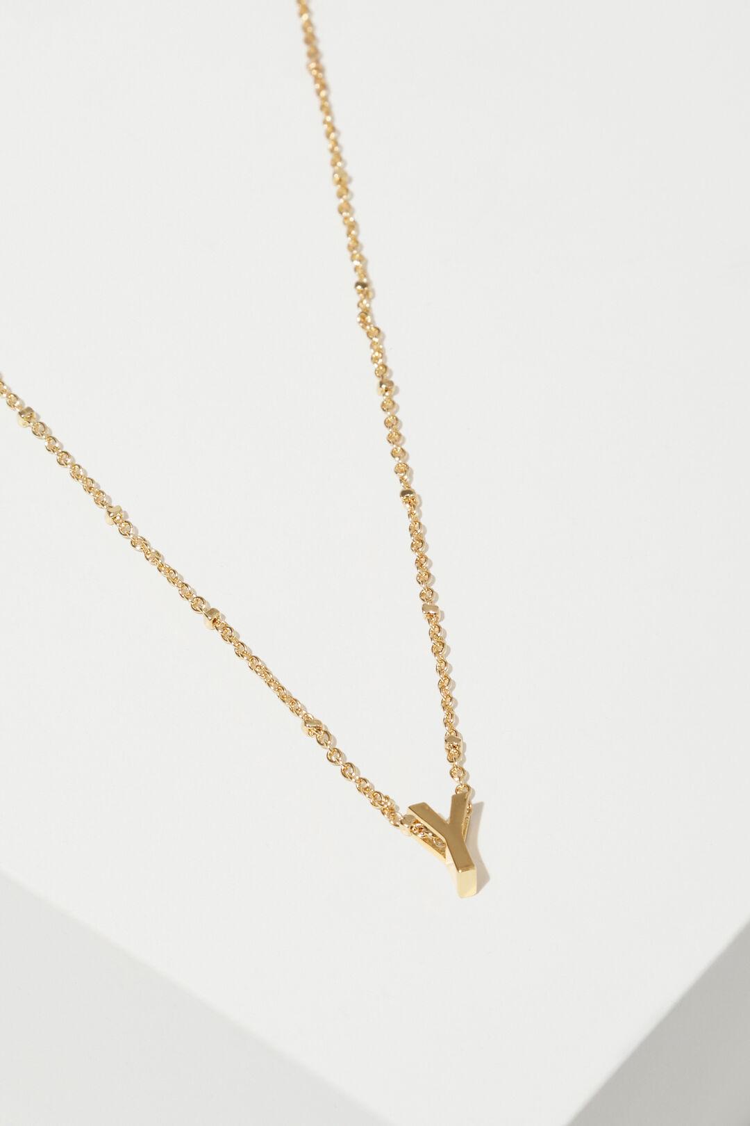 Gold Initial Charm  Y  hi-res