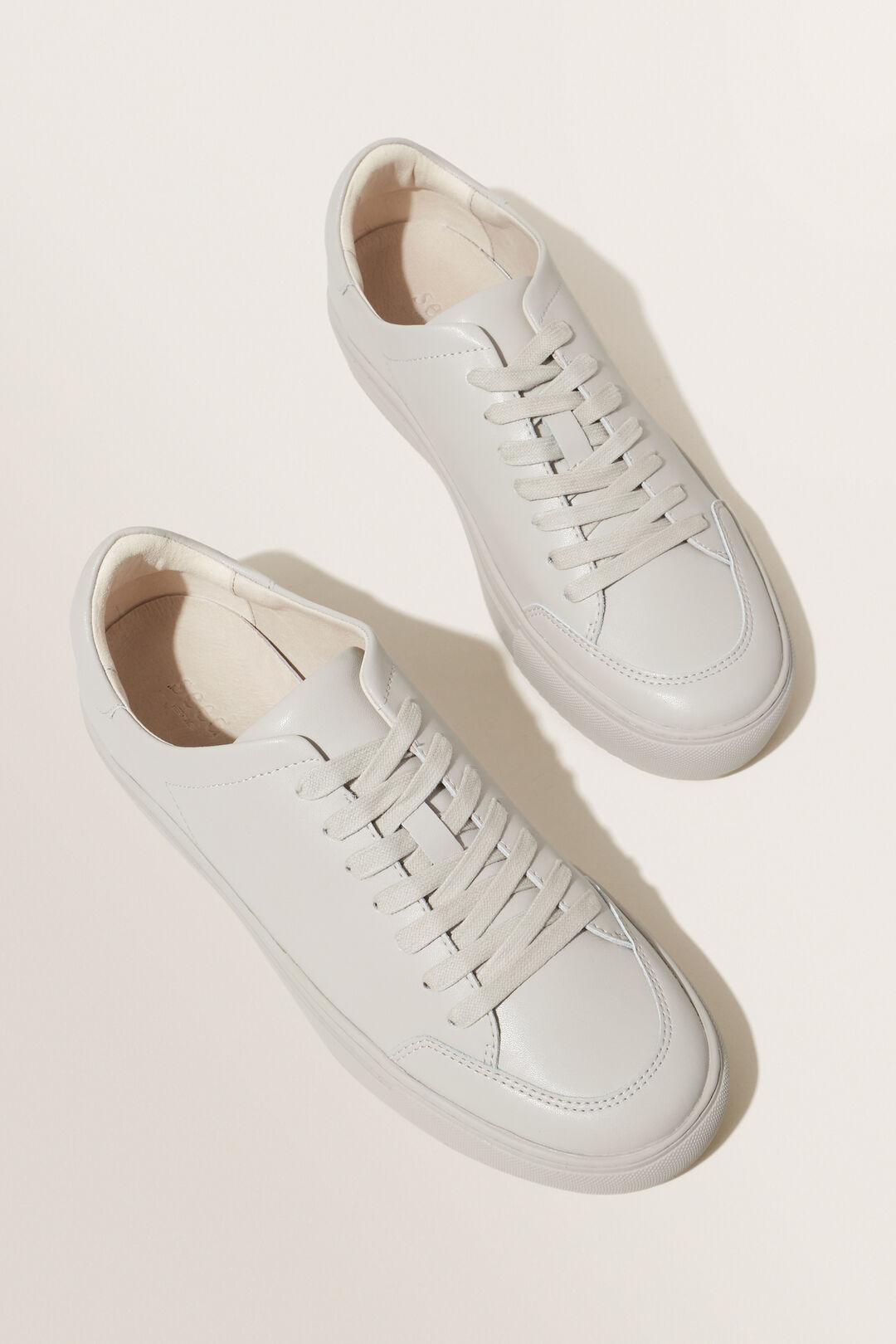 Leather Sneaker  Grey  hi-res