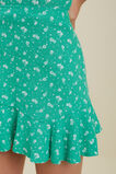 Ditsy Linen Skirt  Apple Green  hi-res