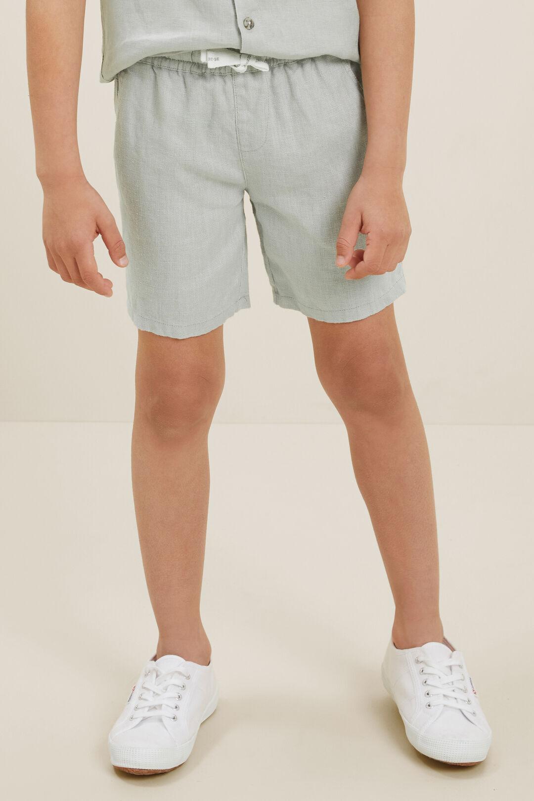 Linen Shorts  Mint  hi-res